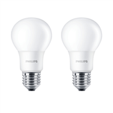 LED spuldze E27 , Philips / 2 gab.