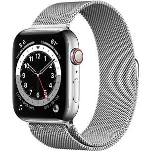 Viedpulkstenis Apple Watch Series 6 Steel (44 mm) GPS + LTE M09E3EL/A