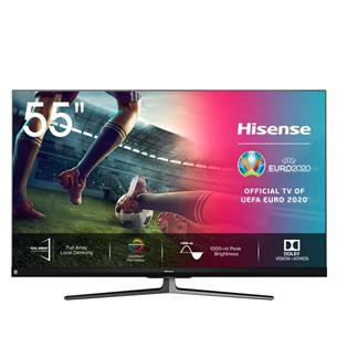 55'' Ultra HD 4K LED LCD televizors, Hisense