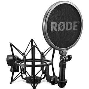 Mikrofona antivibrāciju stiprinājums ar pop filtru, Rode SM6