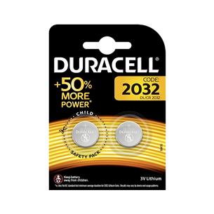 Baterijas DL/CR2032, Duracell (2gb) DL2032-2