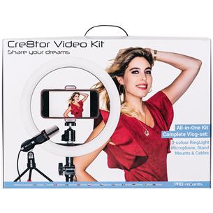 Ring LED Cre8tor Video Kit, PRO-mounts 114007