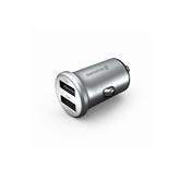 Автомобильное зарядное устройство Metal Silver, Swissten (4.8A)