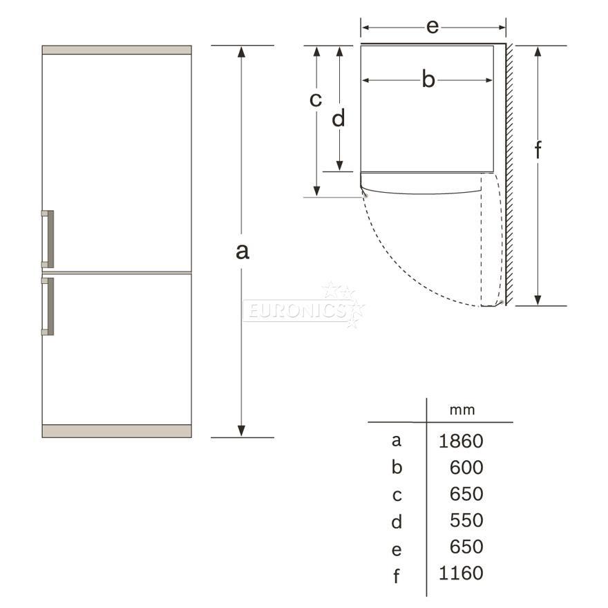 Refrigerator Bosch Height 186 Cm Kgv36vw30