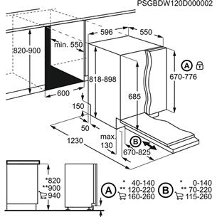 Iebūvējama trauku mazgājamā mašīna, Electrolux (14 komplektiem)