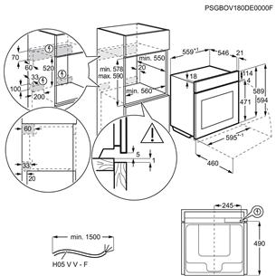 Iebūvējama cepeškrāsns ar pirolītisko tīrīšanu, AEG