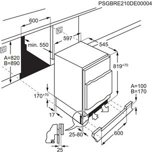 Built-in refrigerator Electrolux (82 cm)