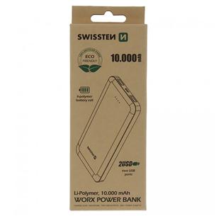 Portatīvais barošanas avots Worx (ECO PACK), Swissten (10000mAh) 22013951ECO