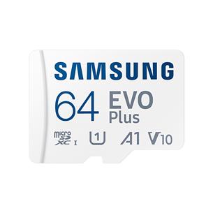 Atmiņas karte MicroSDXC EVO Plus + adapteris, Samsung (64 GB) MB-MC64KA/EU