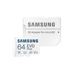 Карта памяти Micro SDXC + SD-адаптер Samsung EVO Plus 2021 (64 ГБ)