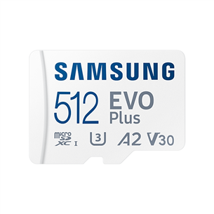 Карта памяти Micro SDXC + SD-адаптер Samsung EVO Plus 2021 (512 ГБ)