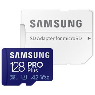 Atmiņas karte MicroSDXC Pro Plus + adapteris, Samsung (128 GB) MB-MD128KA/EU