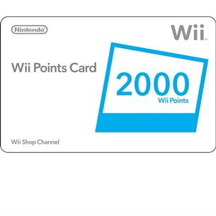 Nintendo Wii Point Card 2000