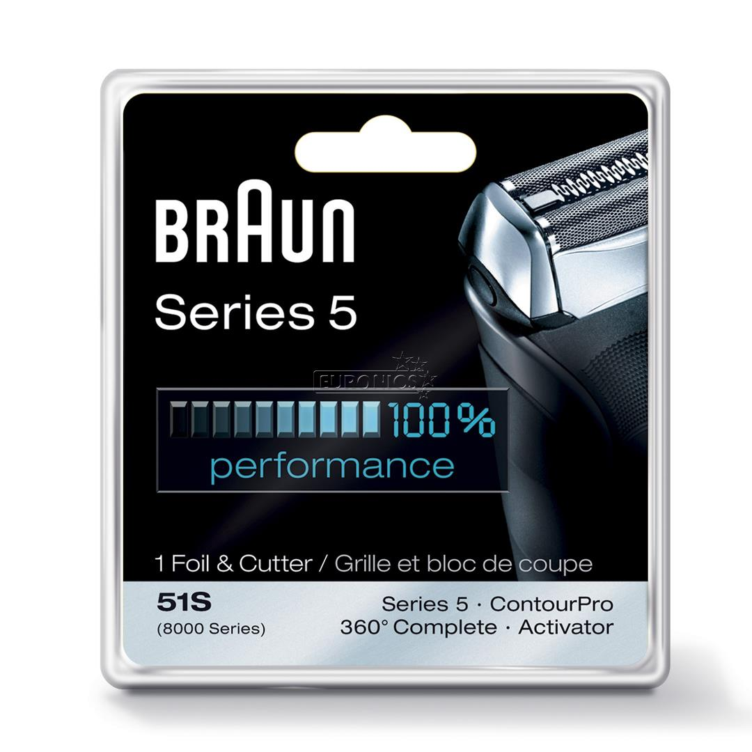 replacement foil and cutter series 5 braun 51snew. Black Bedroom Furniture Sets. Home Design Ideas