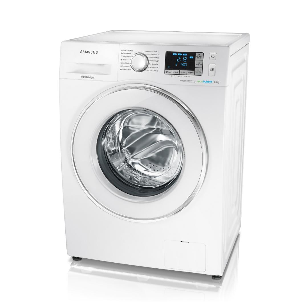 washing machine samsung eco bubble wf80f5e5u4w le. Black Bedroom Furniture Sets. Home Design Ideas