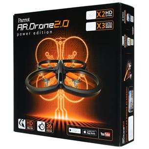Radio vadāms lidaparāts - kvadrakopteris Parrot AR.Drone 2.0 Power Edition