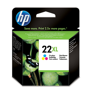 Tintes kārtridžs Nr. 22XL, HP