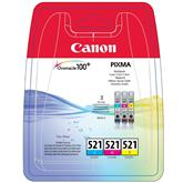 Tintes kārtridžs CLI-521 C/M/Y, Canon