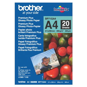 Fotopapīrs Premium Plus, Brother / A4, 260g/m2, 20 lpp