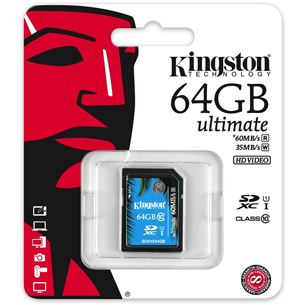 Atmiņas karte SDHC Ultimate, Kingston / 64GB