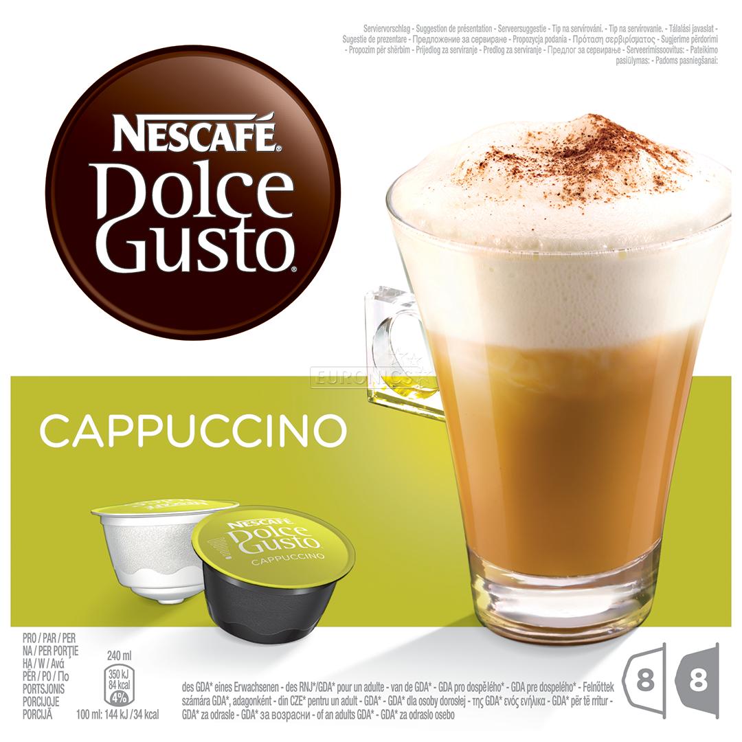 Coffee capsules nescafe dolce gusto cappuccino nestle 5011546498492 - Distributeur capsules dolce gusto ...