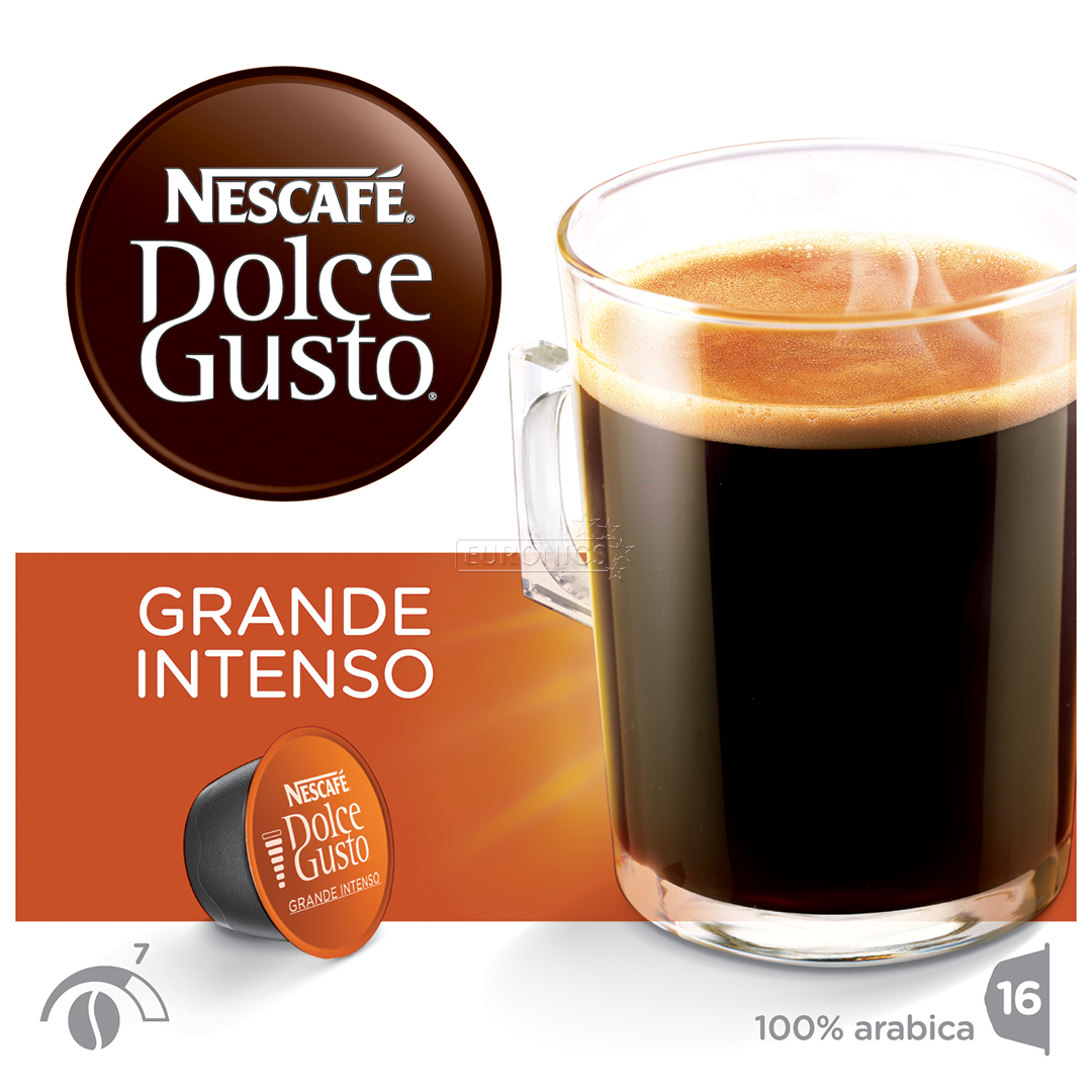 coffee capsules nescafe dolce gusto grande intenso nestle 7613033623271. Black Bedroom Furniture Sets. Home Design Ideas
