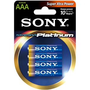Baterijas Stamina Platinum AAA, Sony / 4 gab