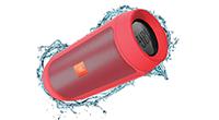 Bluetooth portatīvais skaļrunis JBL Charge 2+ - mitrumizturīgs un ar ietilpīgu akumulatoru