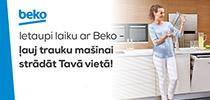 Ietaupi laiku ar Beko - ļauj trauku mašīnai strādāt tavā vietā!