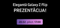 Samsung Galaxy Z Flip viedtālruņa prezentācija 28. februārī