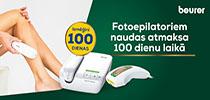 Pērc Beurer fotoepilatoru droši, jo Euronics piedāvā atgriezt preci 100 dienu laikā!