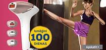 Pērc Philips fotoepilatoru droši, jo Euronics piedāvā atgriezt preci 100 dienu laikā!